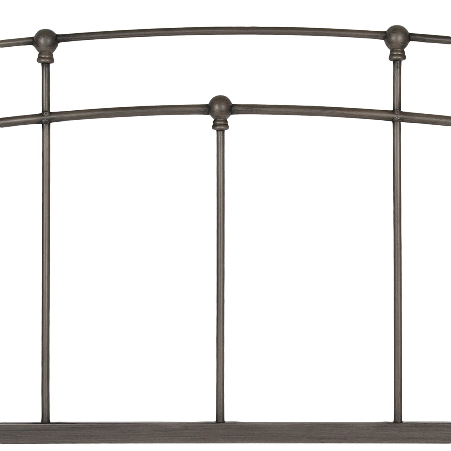 Fenton modern dark brown queen platform bed free shipping today - Amazon Com Fenton Complete Bed With Metal Duo Panels And Globe Finials Black Walnut Finish King Kitchen Dining