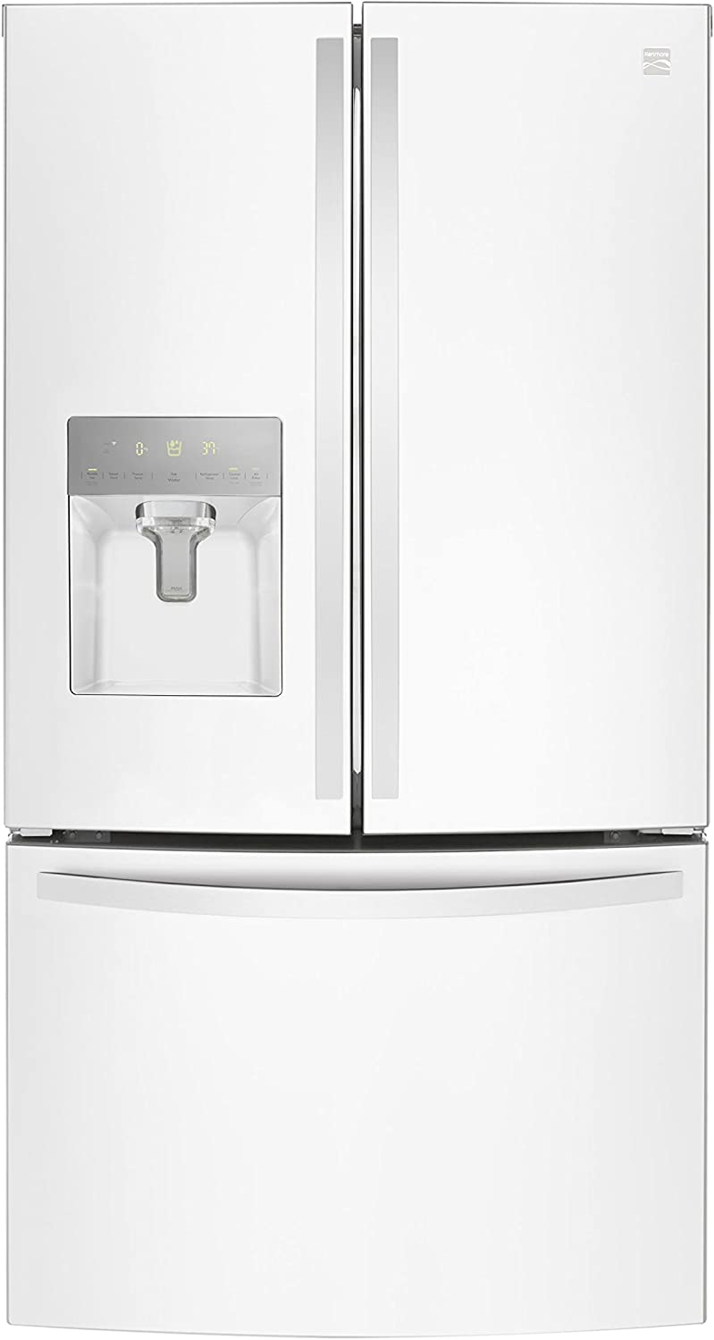 Kenmore 73102 French Door Smart Refrigerator, 27.9 cu. ft. in White-Works with Alexa and enabled with Amazon Dash Replenishment System, includes delivery and hookup