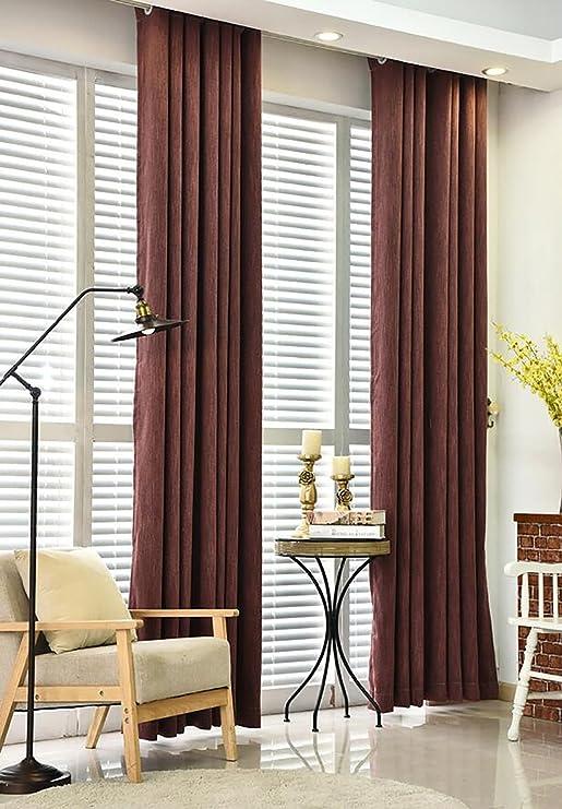 Cortinas Cortinas Algodón ecológico Algodón de bambú Sala de estar Cortina acabada del dormitorio Cortina más