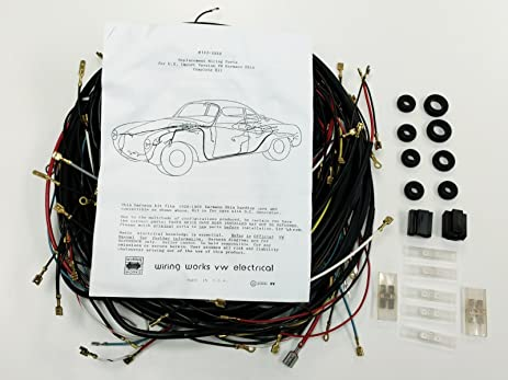 Amazon.com: 1968-1969 ALL Karmann Ghia VW COMPLETE Wiring Works Wire ...