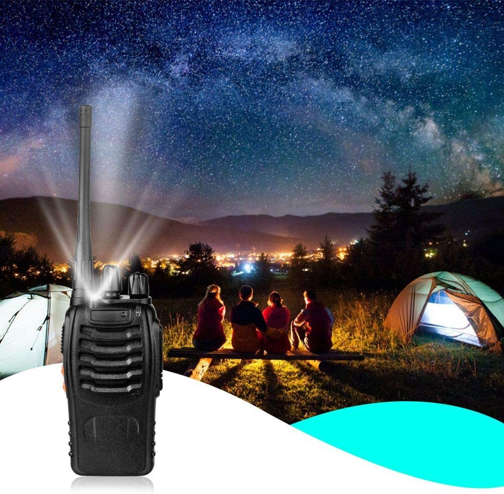 Walkie Talkies for Adults Kids 2 Pack Two-Way Radios Rechargeable Handheld Talkies with Earpiece 16-Channel UHF 400-470MHz for Family Home Cruise Ship Camping Hiking