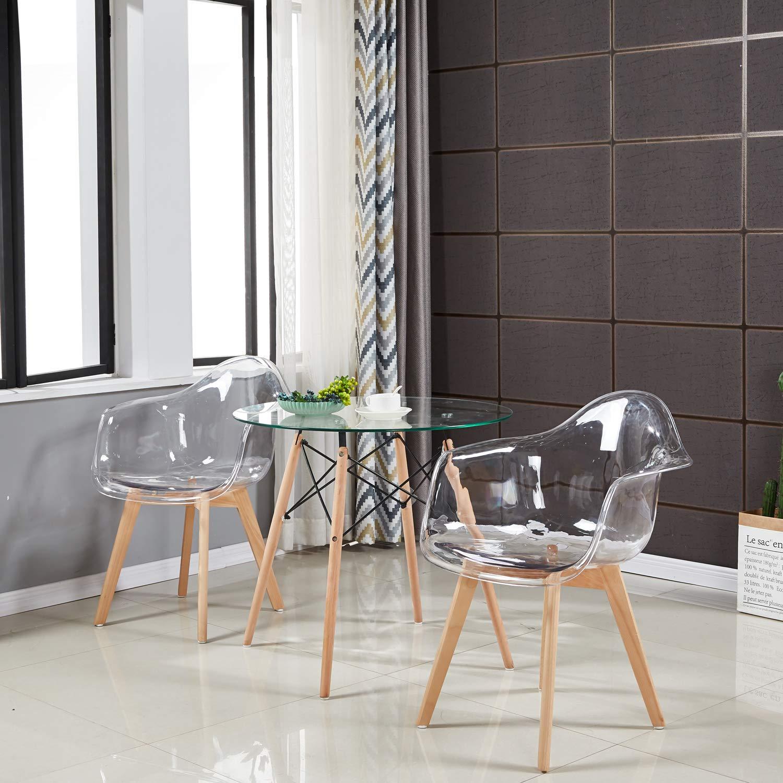 2 4 6 sedie design retr poltrone moderne sedie da cucina for Sedie da cucina trasparenti