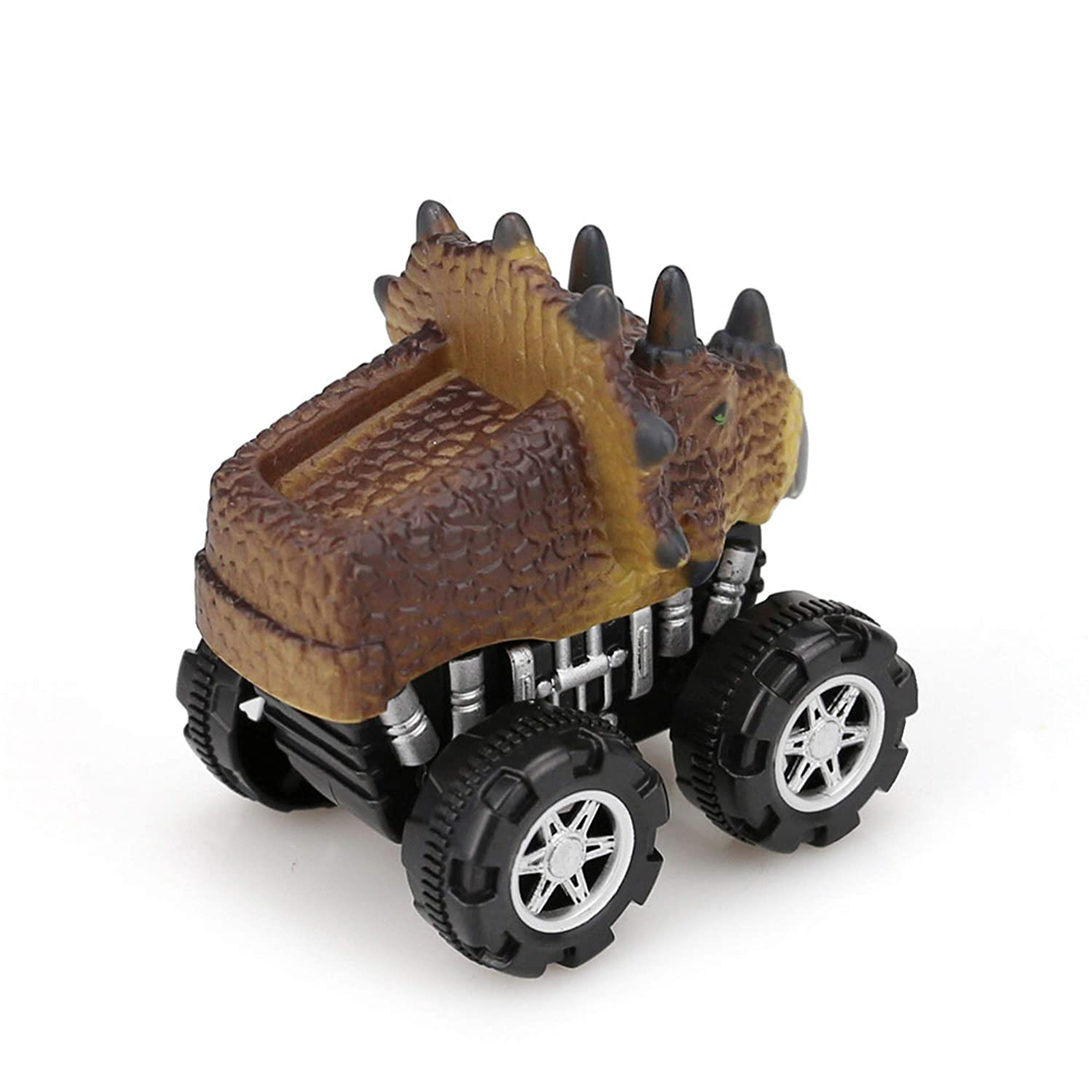 Happy Event Dinosaur Turtle Dolphin Rhino Friction Driven Car Retract Mini Animal Car Toy Gifts Ki
