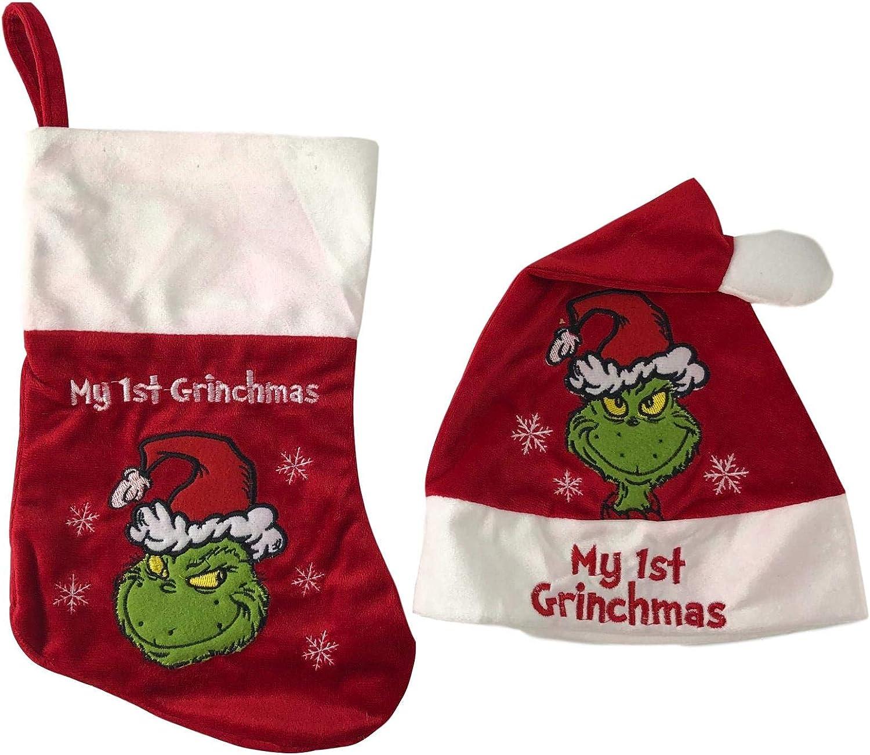 My 1st Christams Hat /& Stocking  Set Gift Set New