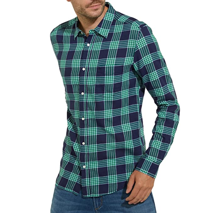 Wrangler Camisa Casual - Manga Larga - para Hombre Verde Verde Medium
