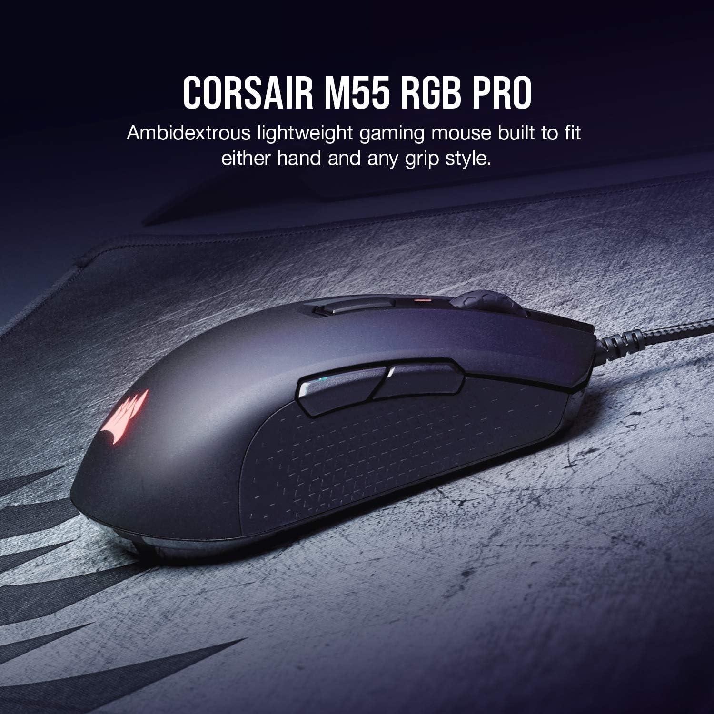 CORSAIR M55 RGB Pro Ambidextrous Gaming Mouse ambidextrous lightweight