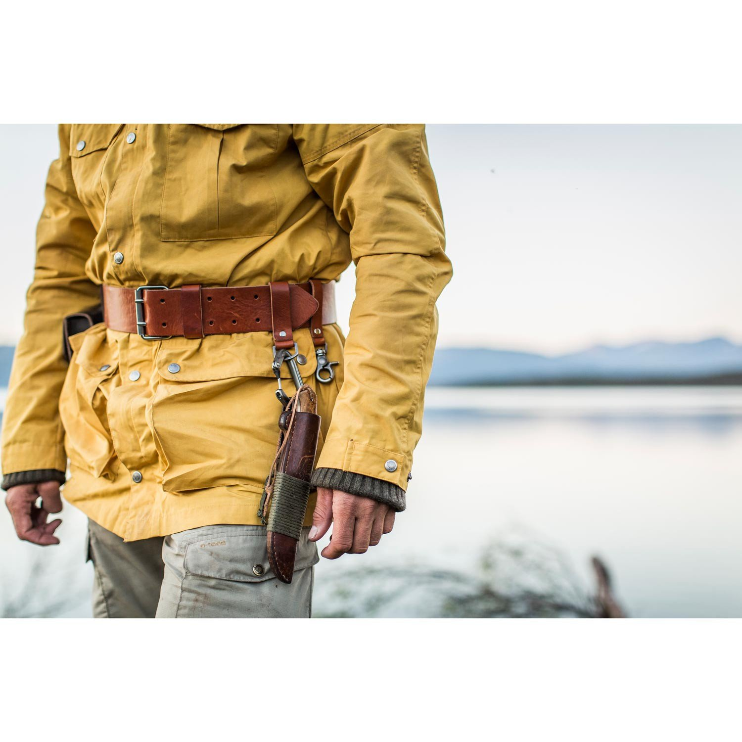 ac16ba6045c1b Fjällräven Equipment Belt Leather Cognac