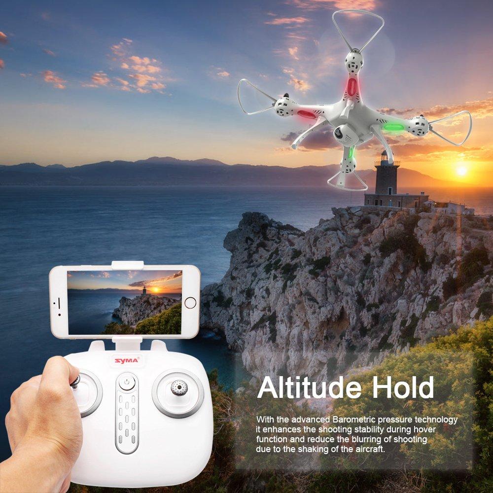Elementdigital Syma Rc Drone Fpv X8pro 720p Hd Camera X8 Pro Wifi Drore Gps Auto Return Position Quadcopter Rtf Altitude Hold 6axis Ggro
