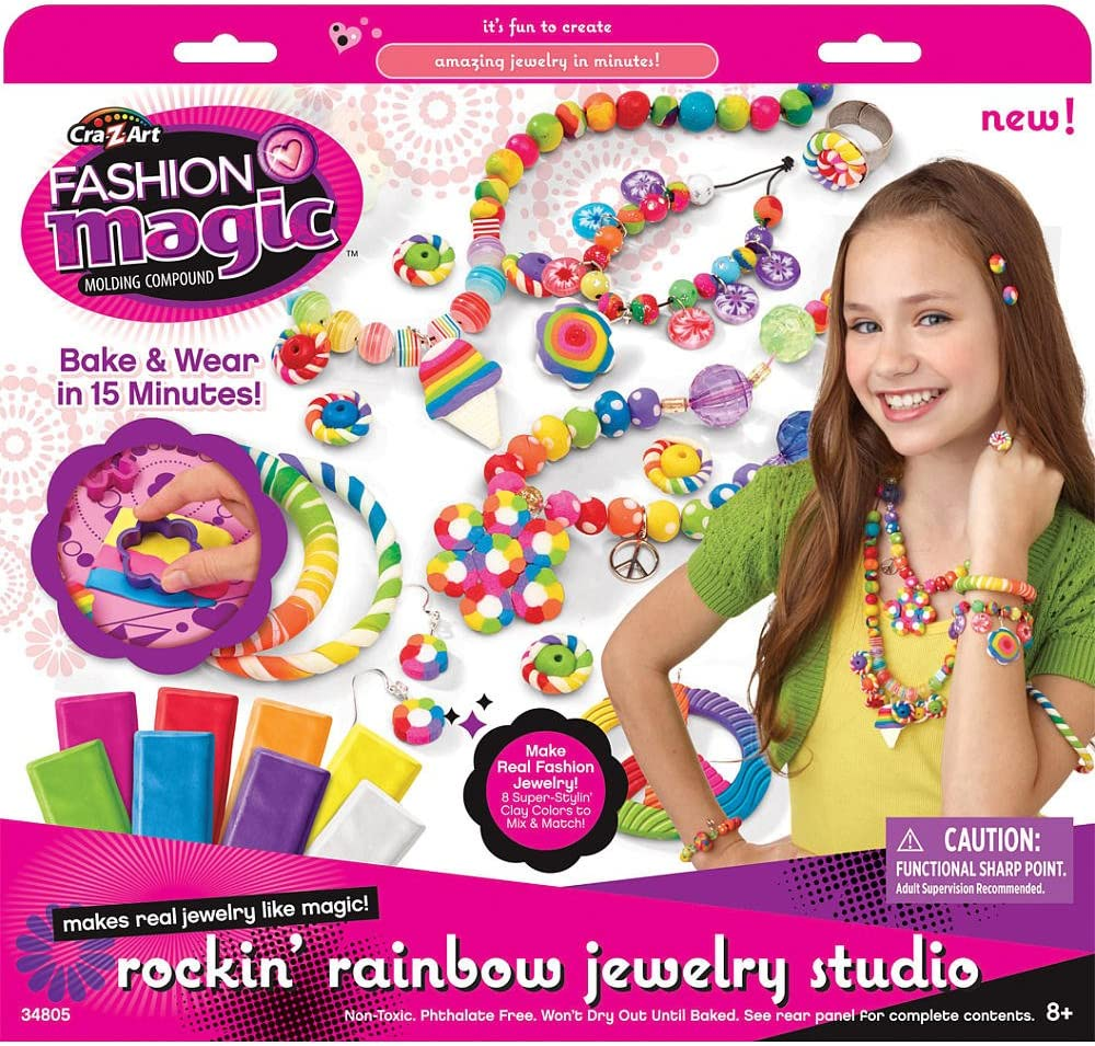 Amazon Com Cra Z Art Fashion Magic Rockin Rainbow Jewelry Studio Toys Games