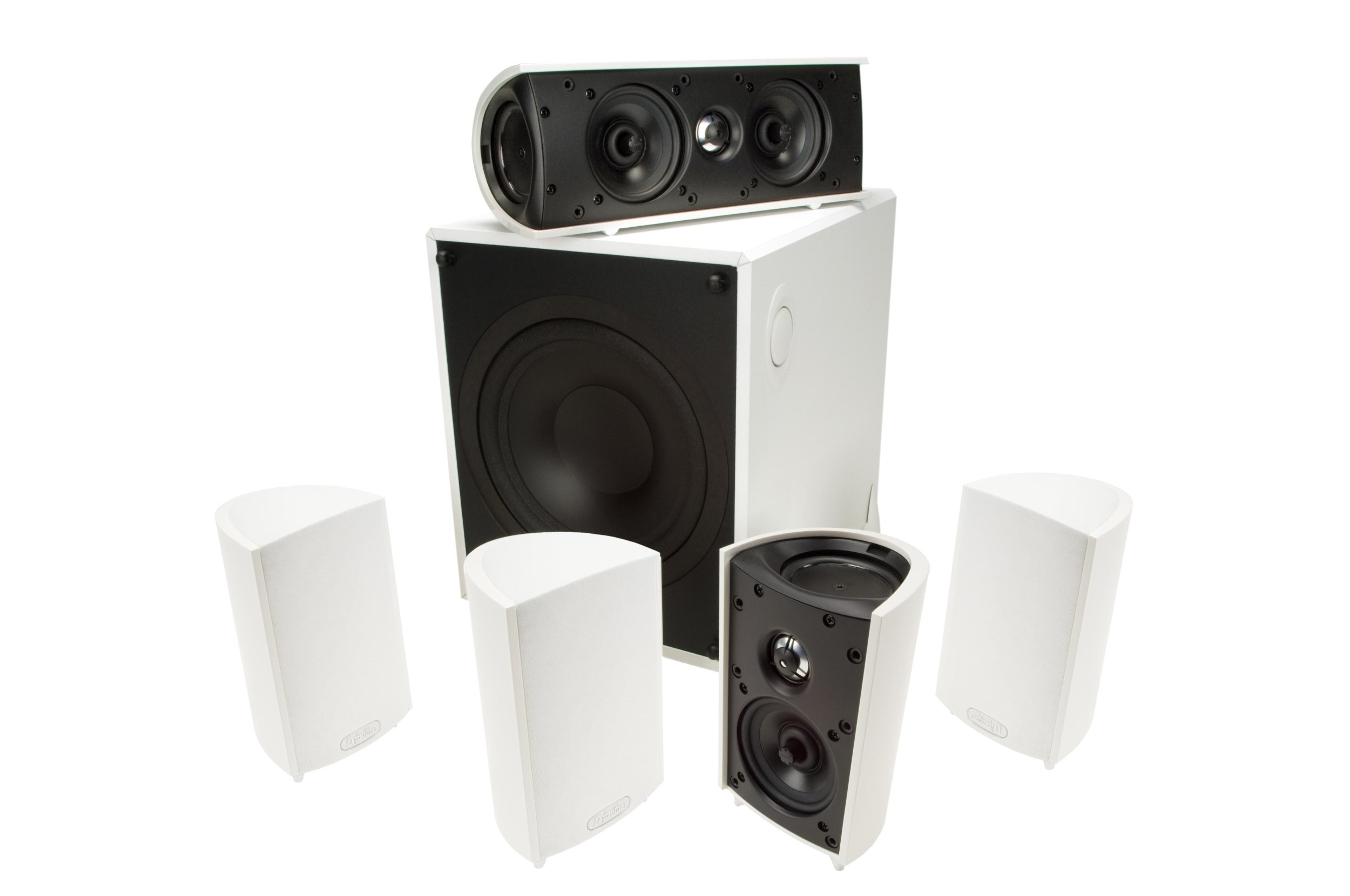 Definitive Technology ProCinema 600 120v Center Speaker (Set of Six, White)