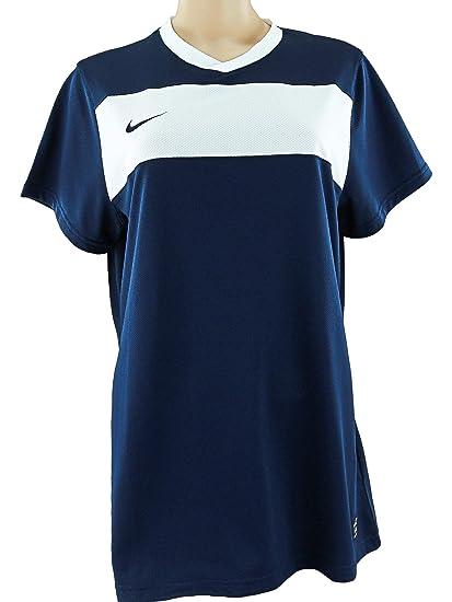 Nike - Camiseta de fútbol para Mujer, Talla XL, Color Azul Marino