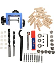 3 in 1 Wood Dowel Hole Drilling Guide Jig Kit, Wood Dowel Hole Drill Bit 8mm/10mm Carpentry Positioner Locator Tool