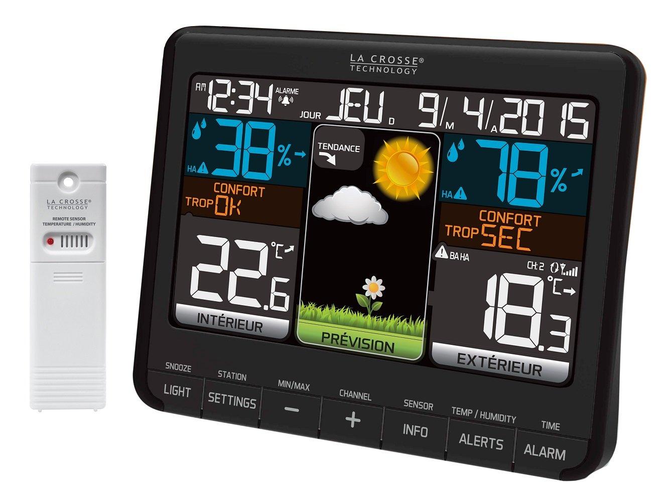 La Crosse Technology WS6825: estación meteorológica, Color Negro, Negro: Amazon.es: Jardín