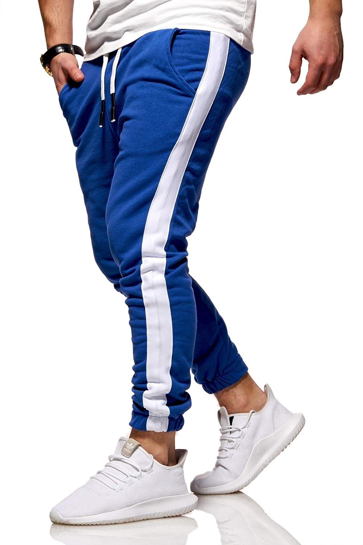Rello & Reese Herren Trainingshose Stripe Jogginghose Hose Sporthose R-1211