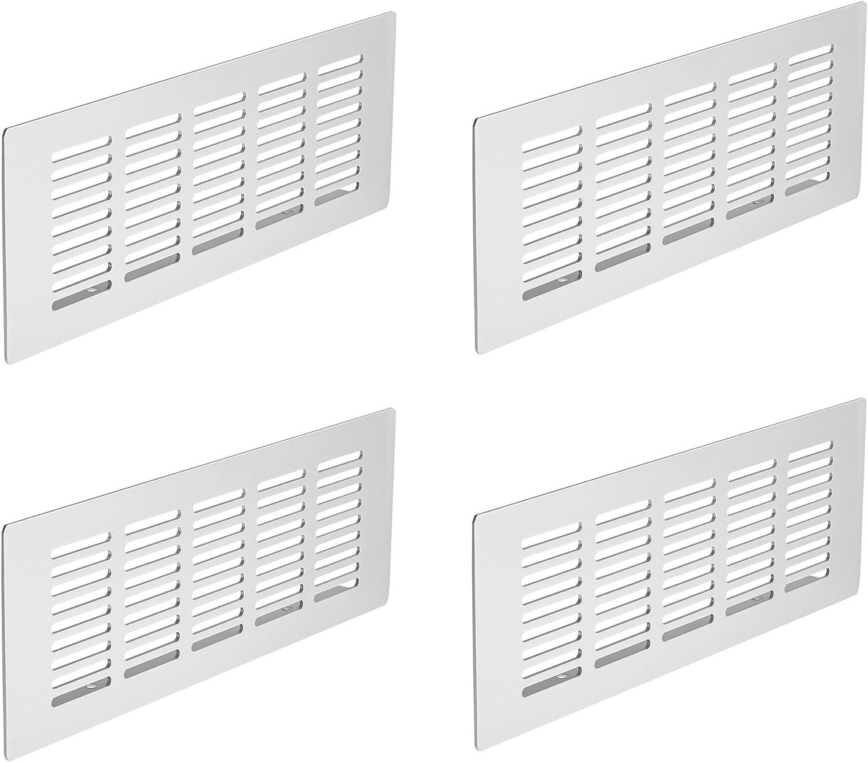 GedoTec Chapa con agujeros Plancha de puente Rejillas ventilación de Aluminio 225 x 80 mm Altura 15 mm con gerillten Pasadores aluminio natural anodizado Calidad de marca para su Sala de estar