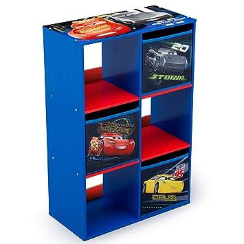 Charmant Delta Children 6 Cubby Storage Unit, Disney/Pixar Cars
