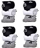 DELHI TRADERSS Men's Logo Sports Ankle Length Cotton Towel Socks -Pack of 12