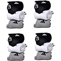 DELHI TRADERSS Men's Logo Sports Ankle Length Cotton Towel Socks -Pack of 12