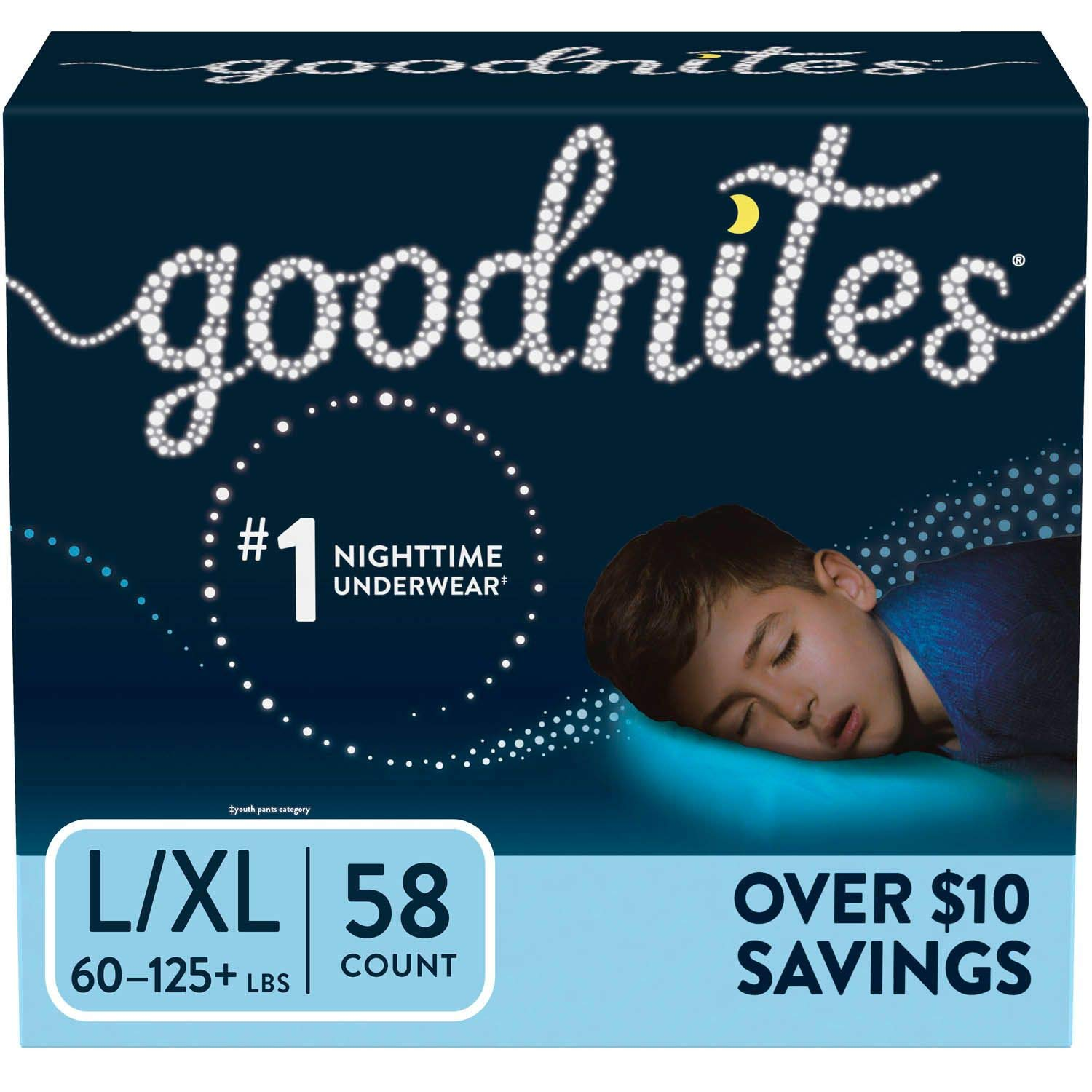 GoodNites Girl/'s Night Time Underwear L//XL 34 count 2 day FREE shipping!