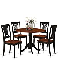 East West Furniture DLPL5 BCH W 5 Piece Kitchen Table And Chairs Set