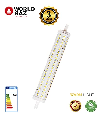 Bombilla R7S led 189mm de 15W WORLD RAZ 15W. Bombillas bajo consumo equivalentes a 150W.