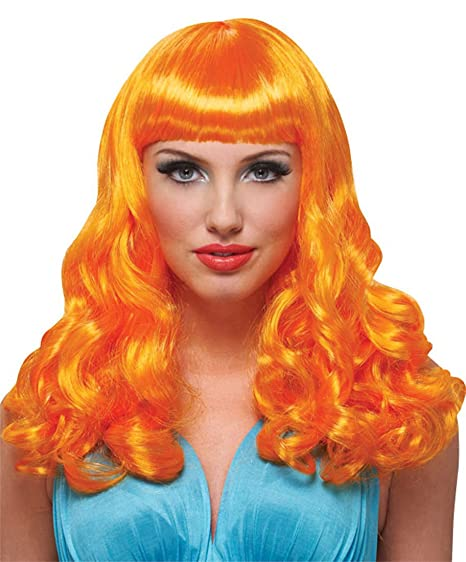 Amazon.com  Orange Party Girl Adult Womens Costume Wig  Clothing d68b110fd