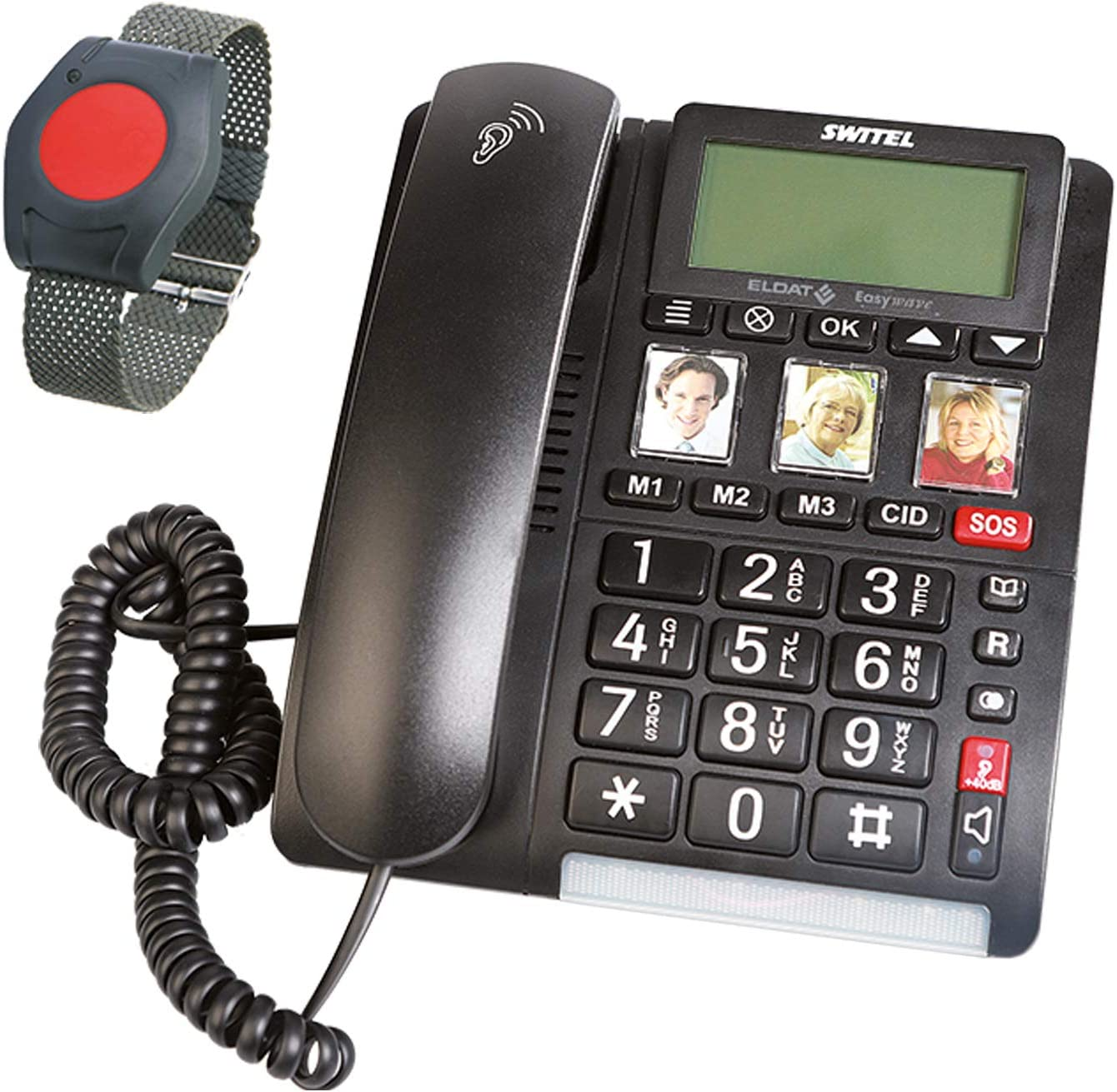 Eldat Easywave Apf01 Hausnotruf Telefon Mit Notruf Elektronik