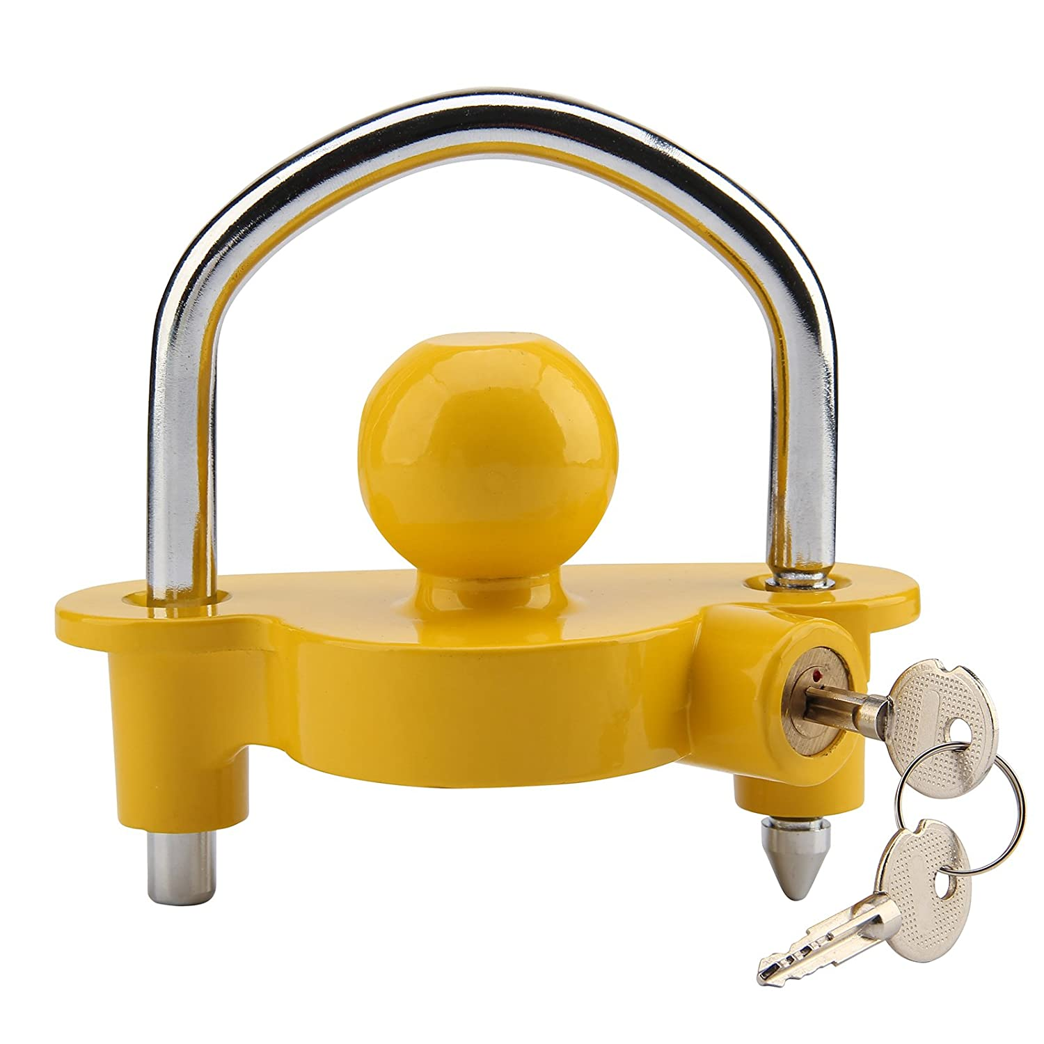 MultiWare Trailer Ball Lock Heavy Duty Ball Tow Hitch Lock & Keys for Towing Caravan/Trailer Security OEM