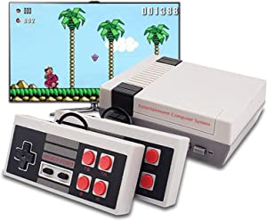 KDRose Classic Handheld Game Console, Built-in 620 Classic Games and 2X 4 NES Classic Button Controller Av Output Video Games, is an Ideal Gift Choice for Children and Adults
