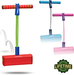 New Bounce Pogo Stick for Kids - Foam Pogo Jumper for Boys and Girls Ages 3 to 5 Years -100% Safe, Bouncy Toy for Toddlers, Squeaks with Each Hop