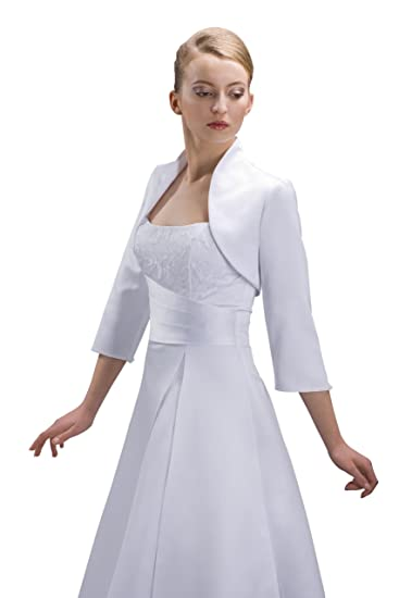 Nina Brautmoden Chaqueta de novia de raso para vestido de novia ...