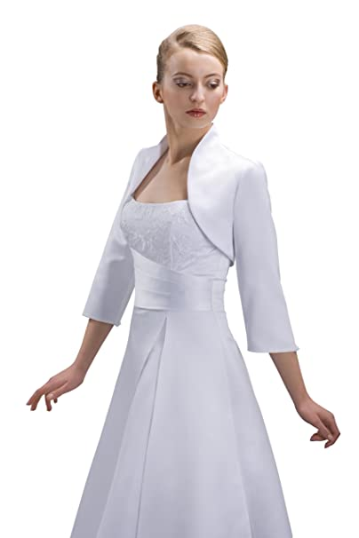 Nina Brautmoden Chaqueta de novia de raso para vestido de novia para mujer