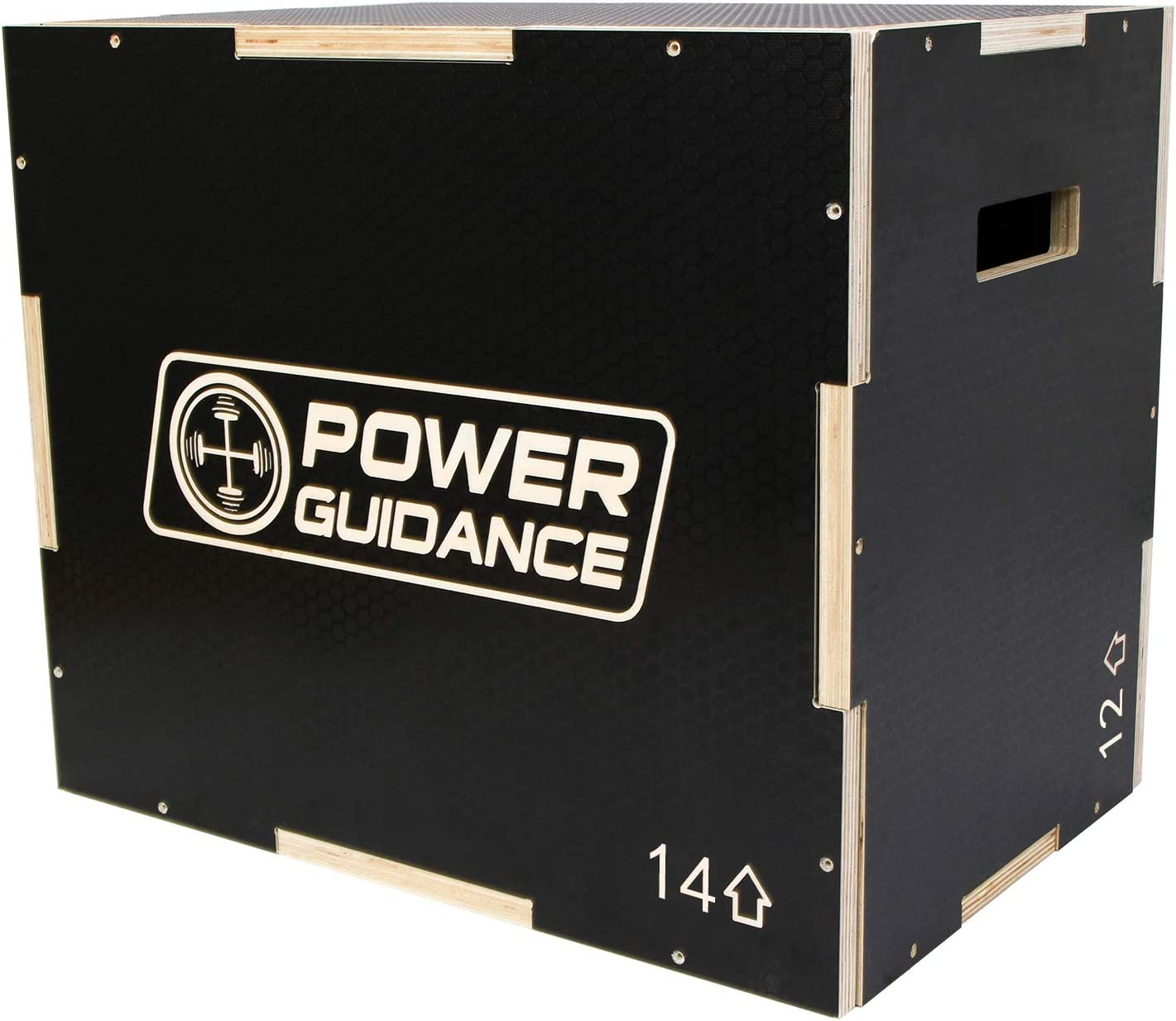 POWER GUIDANCE 3 in 1 Wood Plyometric Jump Box 60//50//45 cm Plyo Box for Jump Training and Conditioning 40//35//30 cm 75//60//50 cm