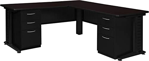 Regency Fusion 72-Inch Double Pedestal L-Desk