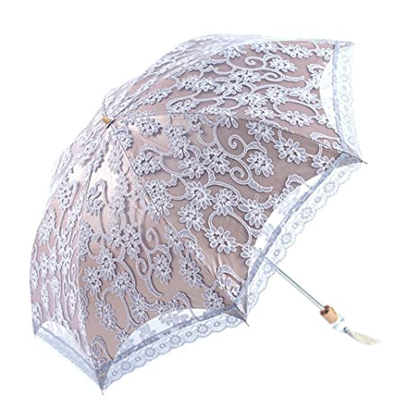5cb7b11bd503 Amazon.com: Biscount Anti-uv Sun Protection Umbrellas Flower Lace ...