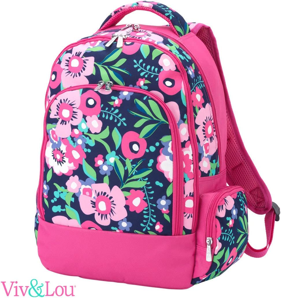 Reinforced Design Water Resistant Backpack Personalized, Posie Floral