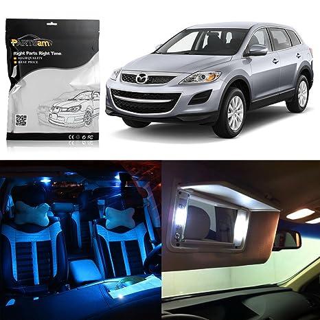 partsam 13pcs 2007 – 2012 Mazda CX-9 luces LED interior del paquete + etiqueta