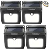 28 LEDs Wireless Solar Motion Sensor Light 100% Upgrade New Rechargeable Waterproof Security Lights, Powerful Safelight for Outdoors, Outside Wall, Garden, Patio, Yard, Pathway Weatherproof Outdoor Lighting by Neloodony