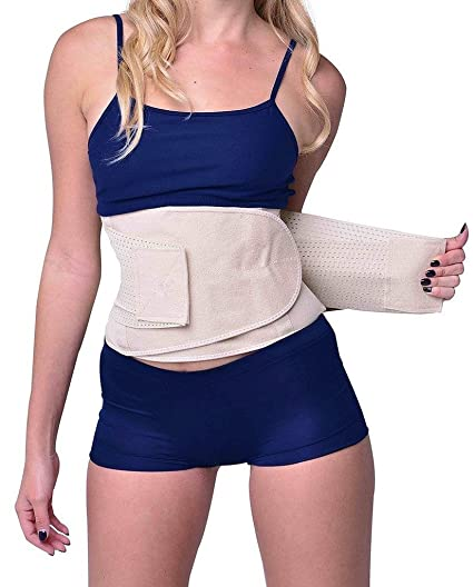 c7648df821a YIANNA Waist Trimmer Belt Weight Loss Wrap Stomach Fat Burner Low Waist and Back  Support Adjustable