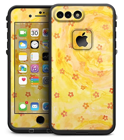 super popular f1339 c1837 Amazon.com: Cute Watercolor Flowers over Yellow - Matte Skin Kit for ...