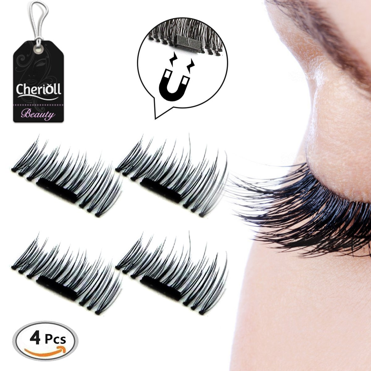 Amazon Magnetic Eyelashes No Glue Premium Quality False
