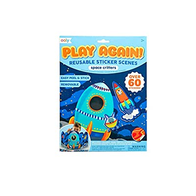 OOLY, Play Again! Reusable Sticker Scenes: Space Critters: Arts, Crafts & Sewing