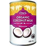 Cha's Organics Premium Coconut Milk (Pack of 12), 4.8 L