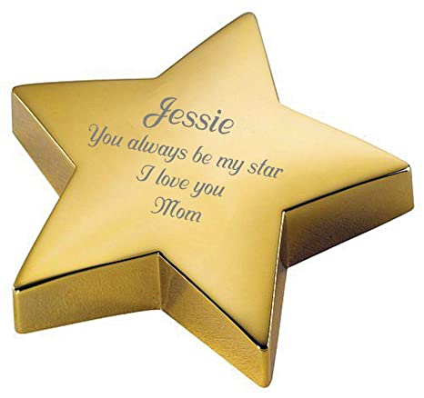 amazon com personalized gold star paperweight engraved free paper