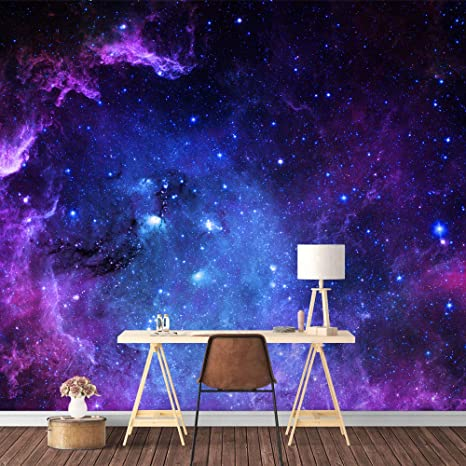 Signford Wall Mural Galaxy Removable Wallpaper Wall Sticker For Bedroom Living Room 100x144 Inches Amazon Com