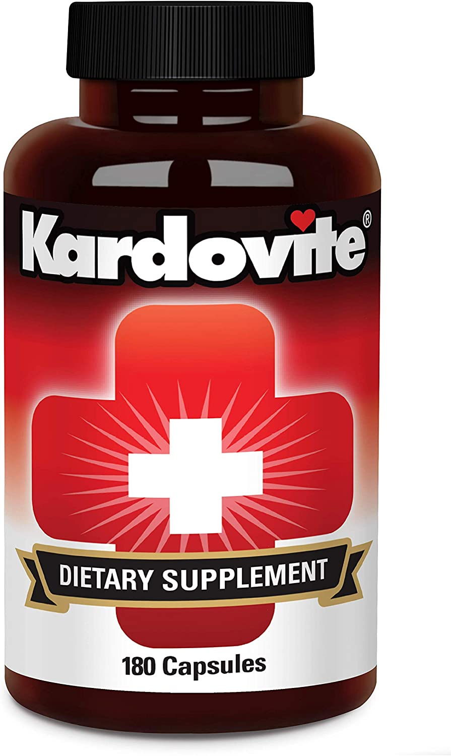Kardovite Herbal Cardiovascular Supplement - Natural Support for Improved Circulation and Already Normal Blood Pressure - 180 Capsules