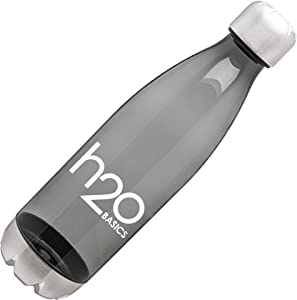 H2O Basics BPA-Free Sport Water Bottles 25 oz, Tritan Non Toxic Plastic, Reusable Flask with Stainless Steel Leak Proof Twist Off Cap & Steel Base, Cola Bottle Shape (Assorted Colors, 25 Ounces)