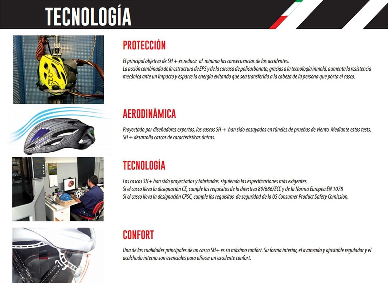 Casco Sh+ Shot R1 Profesional Ciclismo Poli Carbono Carretera MTB Italia 6085: Amazon.es: Deportes y aire libre