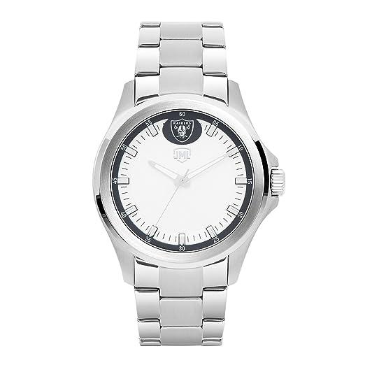 Jack Mason Oakland Raiders plata del hombre reloj deportivo: Amazon.es: Relojes