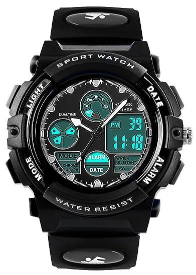 Relojes analógicos digitales para niños - Reloj deportivo para niños al aire libre, Reloj deportivo